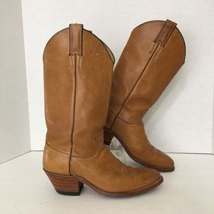 8f36309a41a Justin Boots Brown Leather Western Size 8A Narrow